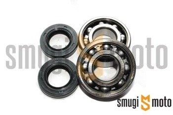 Łożyska wału i uszczelniacze SMG Racing Metal, Derbi EBS / D50B0 (KOYO + Corteco)