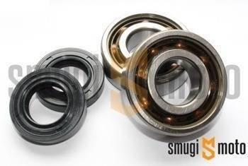 Łożyska wału i uszczelniacze SMG Racing Teflon, Derbi EBS / D50B0 (SKF + Corteco)