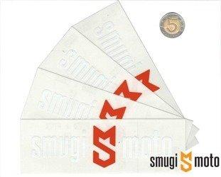 Naklejka z logo SMUGI-MOTO, 152x50mm (różne kolory)
