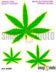 Naklejki Marihuana (zestaw), 12,5x9,5cm
