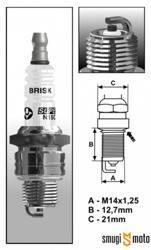 Świeca zapłonowa Brisk BR8HS Silver