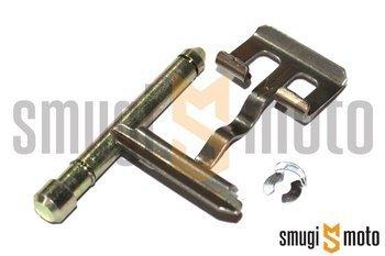 Zestaw mocujący klocki hamulcowe (blaszka + bolec + zabezpieczenie) tylnego zacisku, Yamaha Aerox