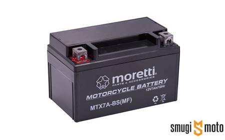 Akumulator Moretti YTX7A-BS AGM (żelowy) + 30 zl kaucja
