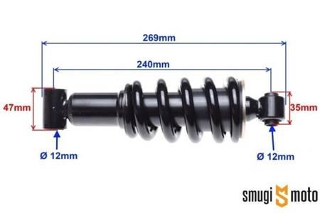 Amortyzator WM, tył (240mm), Zipp Pro