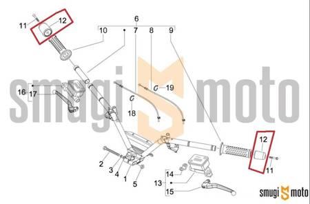 Ciężarek kierownicy, Gilera Fuoco 500, Piaggio Beverly / Carnaby / MP3 125-500, Vespa GTS 125 (1 szt.)