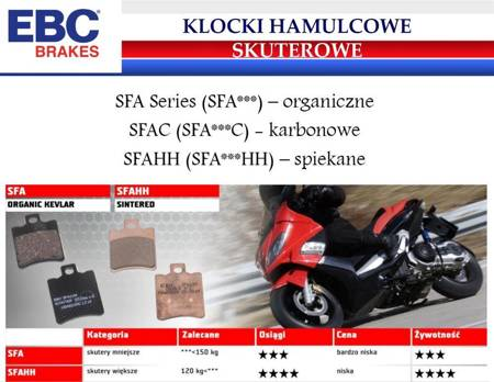 Klocki hamulcowe skuterowe EBC M47 Organic