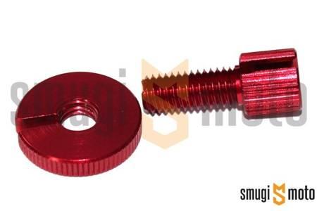 Śruba regulacyjna linki sprzęgła JMP, M8, aluminiowa (różne kolory)