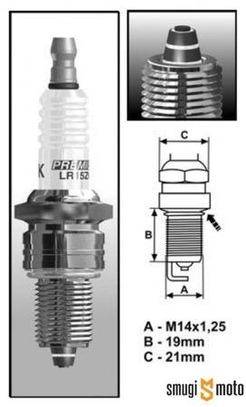Świeca zapłonowa Brisk Multi-Spark BR105E